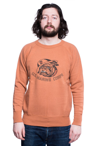 Dubbleworks DW83003-06 USMC Print Sweatshirt (Orange)