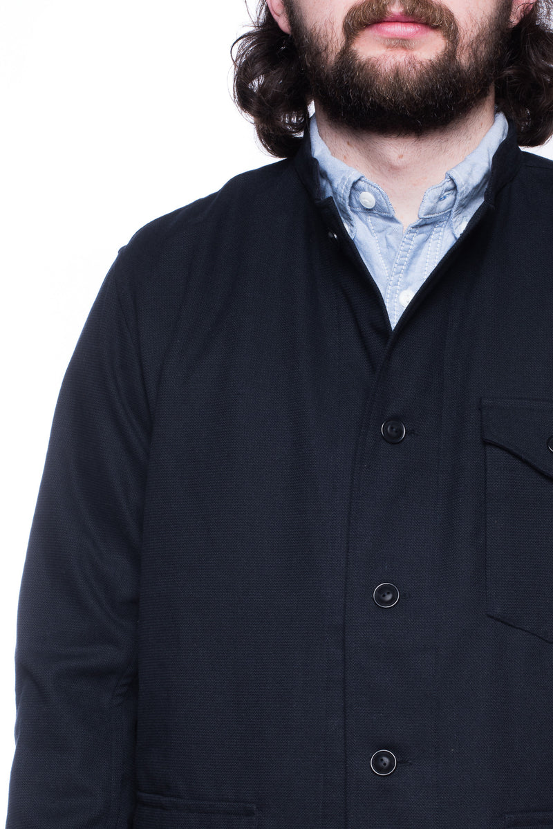 Gorouta 0308 Band Collar Jacket (Navy)