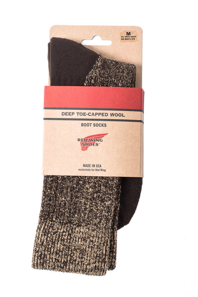 Red Wing Boot Socks Brown