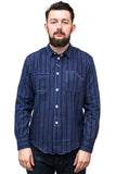 Workers Striped Shadow Shirt Blue