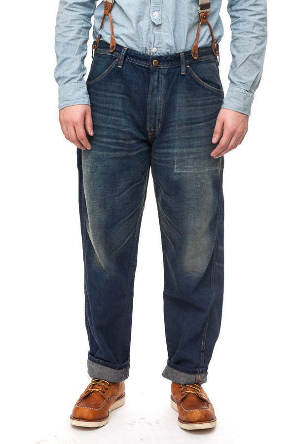 Edwin OWF Washed Suspender Work Pants Jeans
