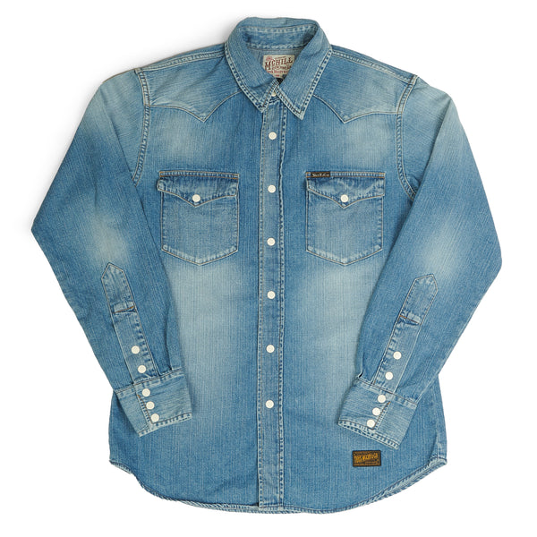 TOYS McCOY TMS1807 McHILL Western Denim Shirt (Washed)