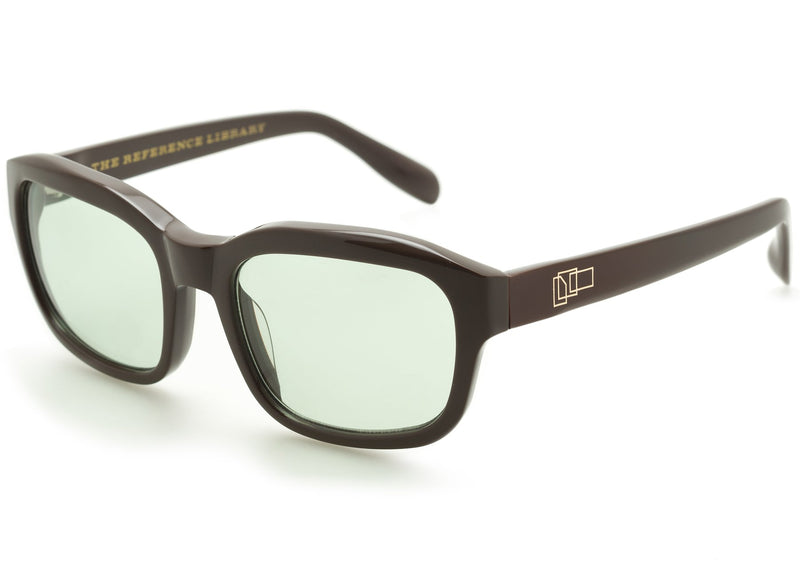 The Reference Library Serge Brown Sunglasses (Pale Green)