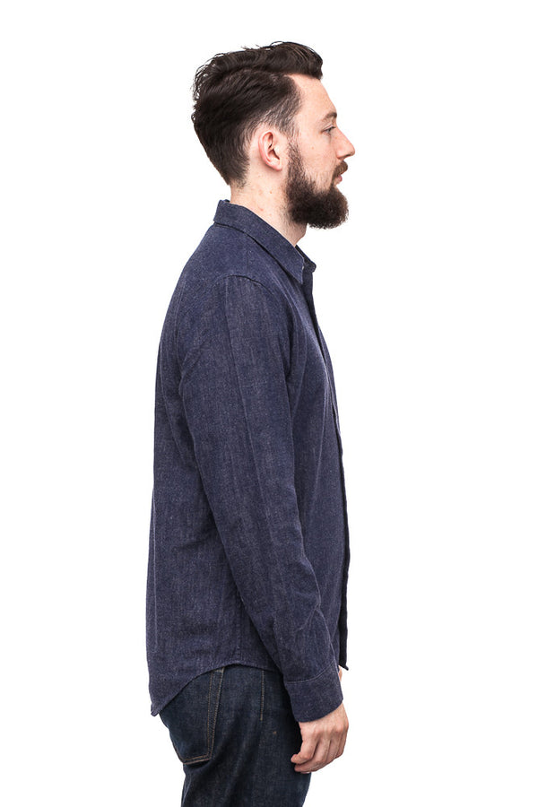 World Workers WRS011E-02 Flannel Shirt Navy