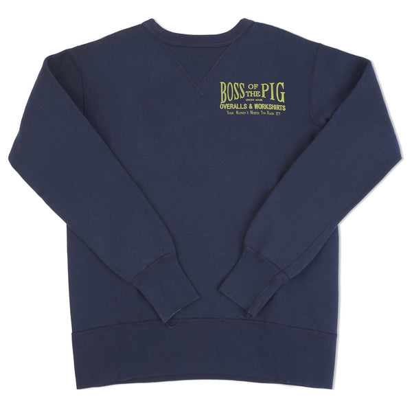 Studio D'artisan 'Boss of the Pig' Sweatshirt Navy