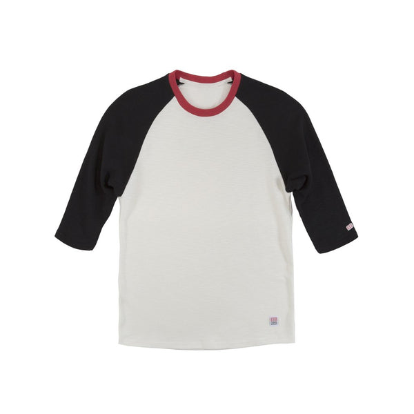 Topo Designs Baseball Tee (Natural/Black)