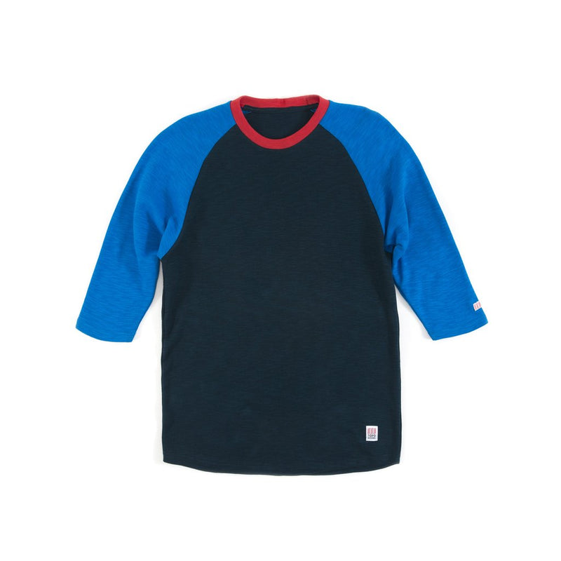 Topo Designs Baseball Tee (Navy/Royal)