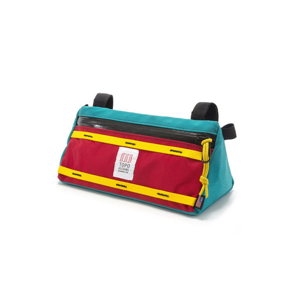 Topo Designs Bike Bag (Turquoise/Red)