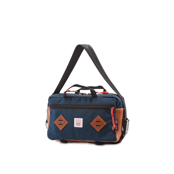 Topo Designs Mini Mountain Bag (Navy/Brown Leather)