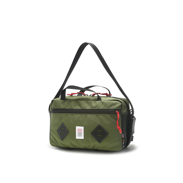 Topo Designs Mini Mountain Bag (Olive/Black Leather)