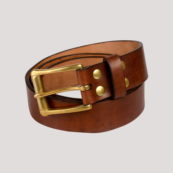 Barnes & Moore Garrison Belt (Oak Bark Dark/Brass)