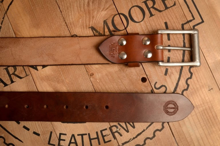 Barnes & Moore Garrison Belt (Oak Bark Dark/Nickel)