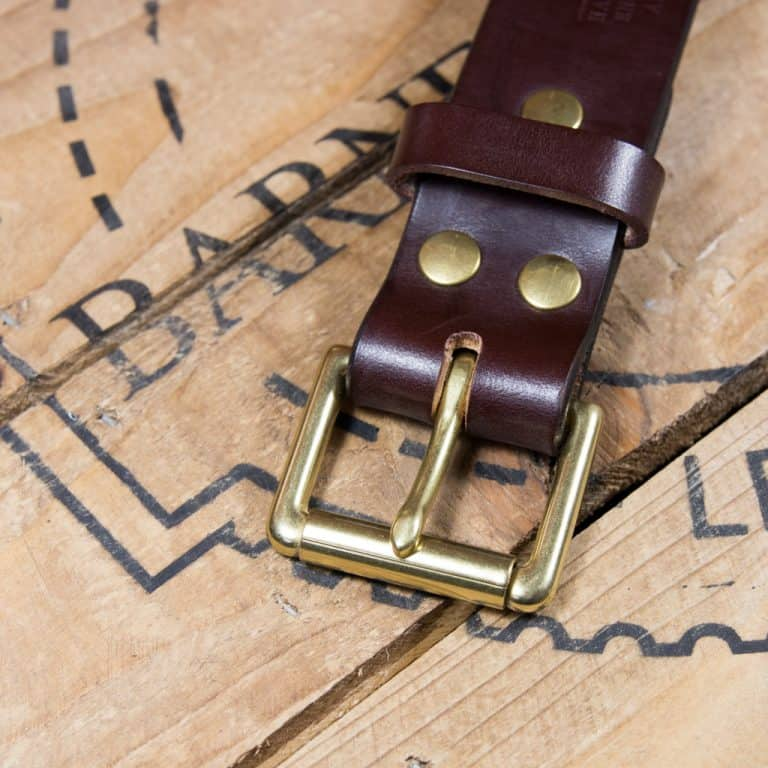 Barnes & Moore Roller Belt (Deep Honey/Brass)