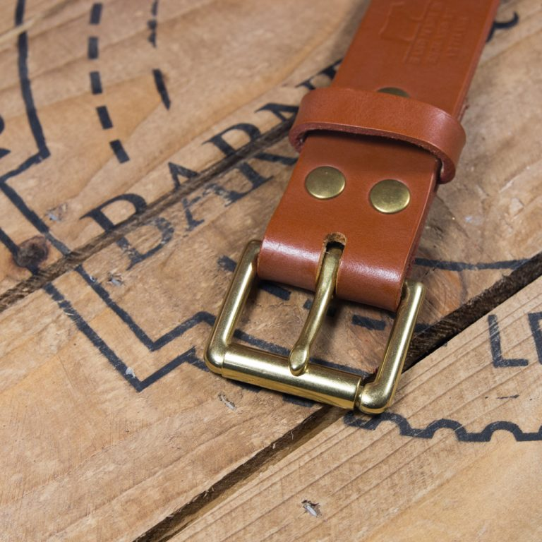 Barnes & Moore Roller Belt (Harness Tan/Brass)