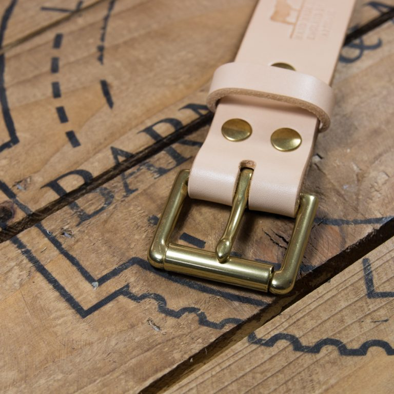Barnes & Moore Roller Belt (Natural/Brass)
