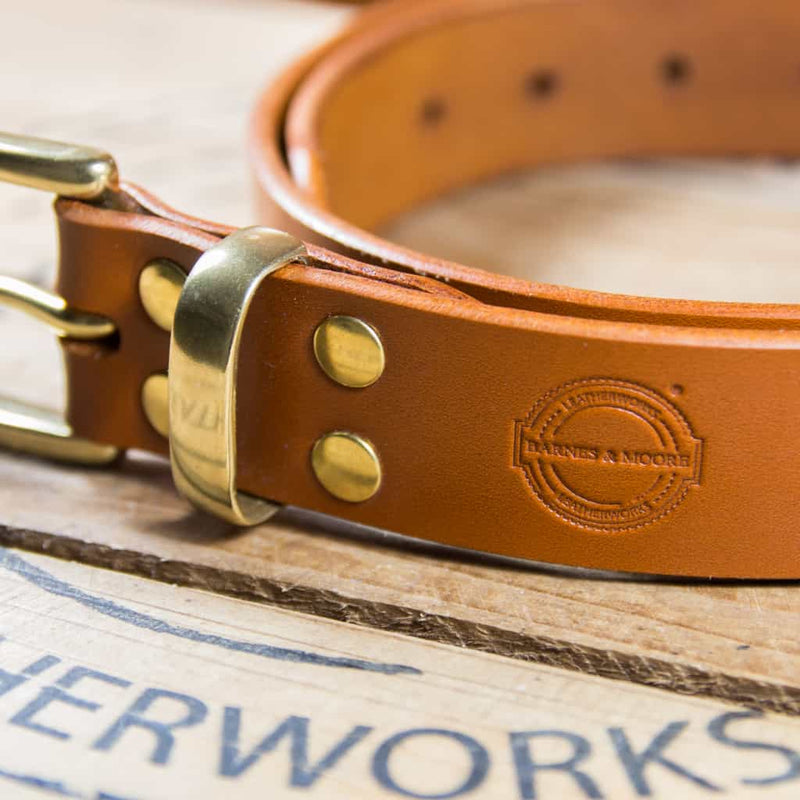 Barnes & Moore Garrison Belt (Harness Tan/Brass)