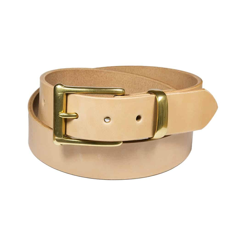 Barnes & Moore Garrison Belt (Natural/Brass)