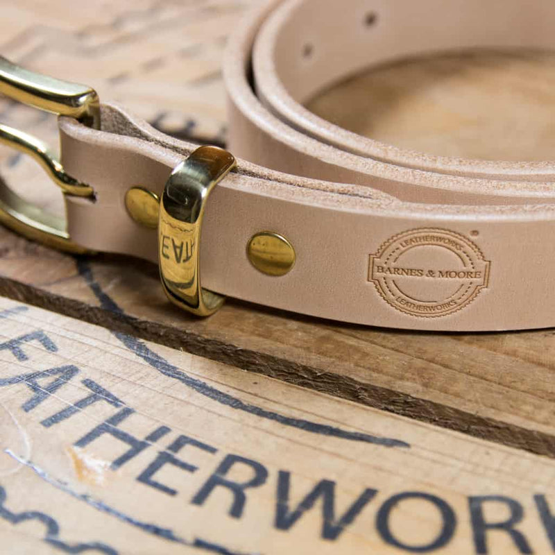 Barnes & Moore Slim Belt (Natural/Brass)