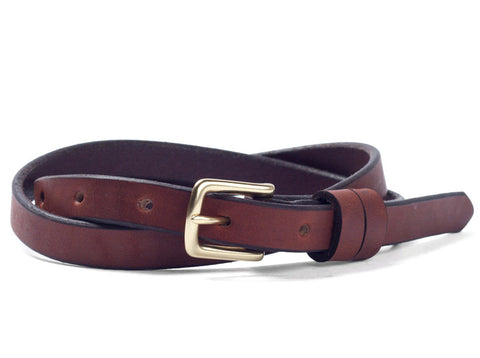 Tanner Goods Narrow Belt Chicago Tan
