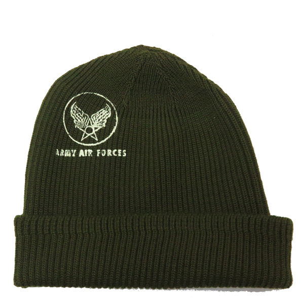 Buzz Rickson's 'USAAF' A-4 Watch Cap (Olive)