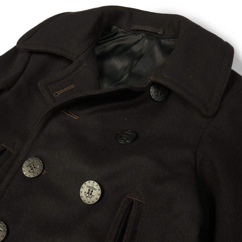 Freewheelers 1931013 1930s Model U.S. Navy Overcoat (Navy)