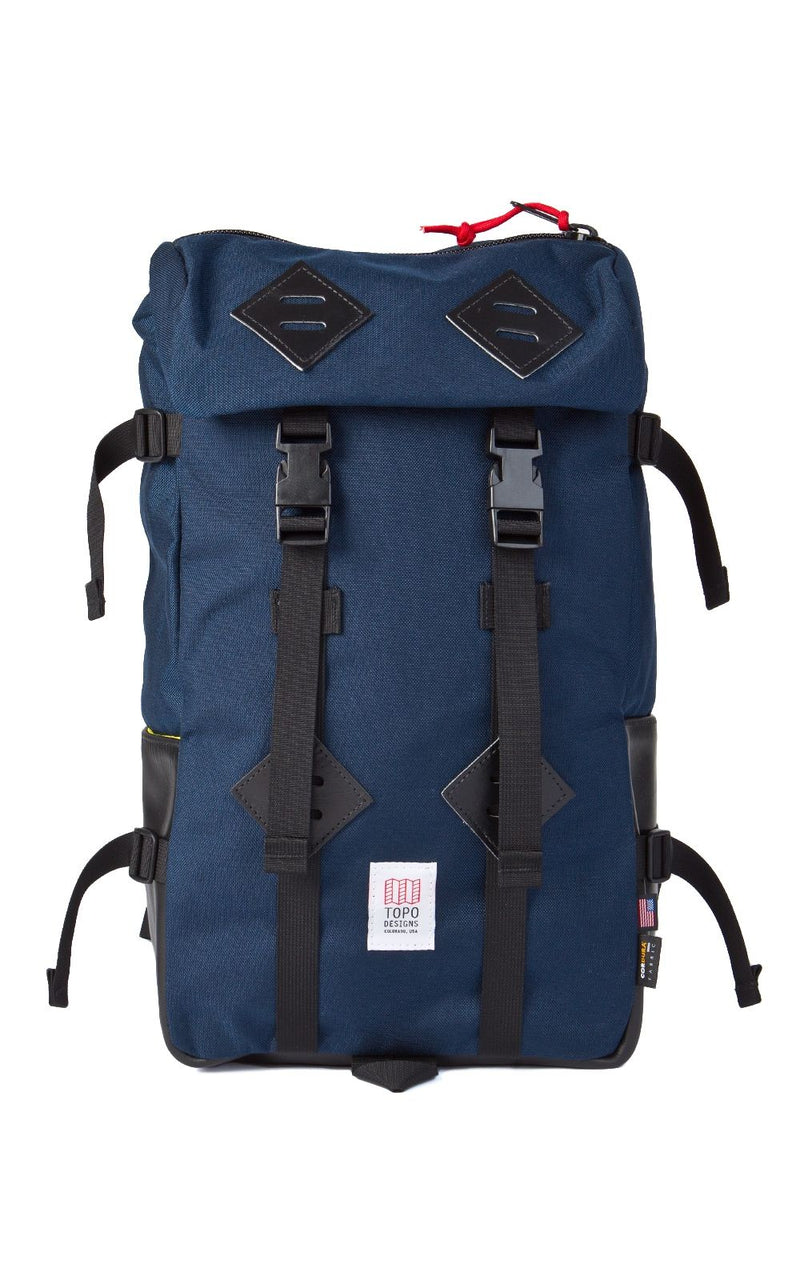 Topo Designs 22L Klettersack (Navy/Black Leather)