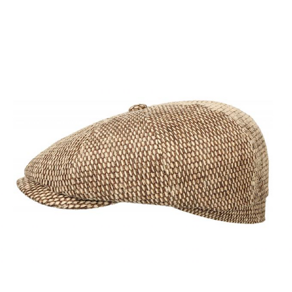 Stetson 6848505-6 Hatteras Toyo Flat Cap (Light Brown)