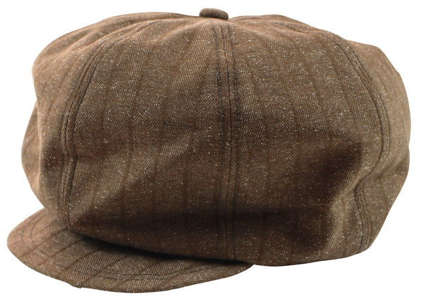 Freewheelers 2027002 1920s Style Flat Cap (Grained Brown)