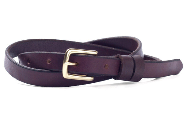Tanner Goods Narrow Belt Dark Oak