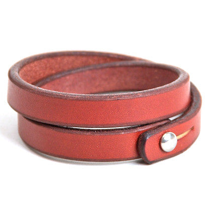 Tanner Goods Double Wristband Mahogany