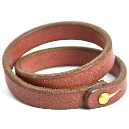 Tanner Goods Double Wristband Cognac