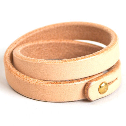 Tanner Goods Double Wristband Natural