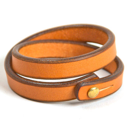 Tanner Goods Double Wristband Saddle Tan