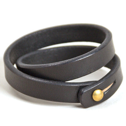 Tanner Goods Double Wristband Black
