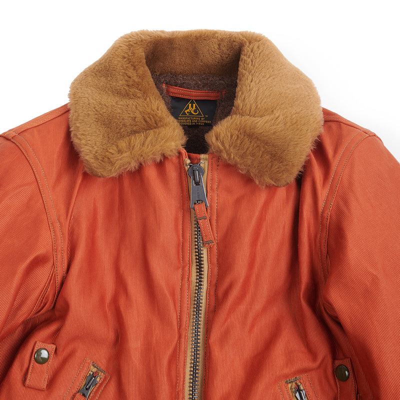Freewheelers 2031028 Ground Crew Jacket (Dark Orange)