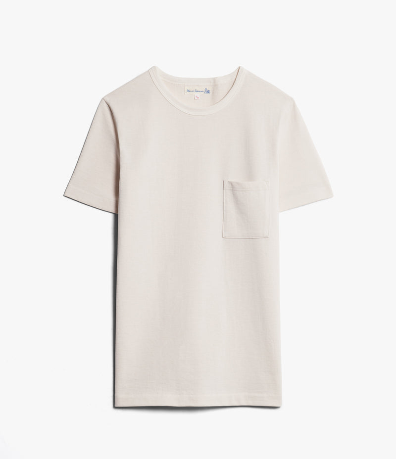 Merz b. Schwanen 215P Classic Crew Neck Pocket Tee (Nature)