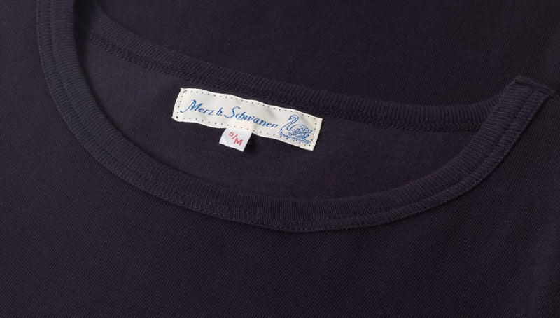 Merz b. Schwanen 1950's Crew Neck Tee (Night Blue)