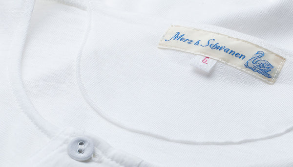 Merz b. Schwanen 102 Button Border Shirt (White)