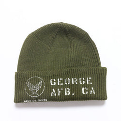 Buzz Rickson's 'George AF Base' A-4 Knit Cap (Olive)