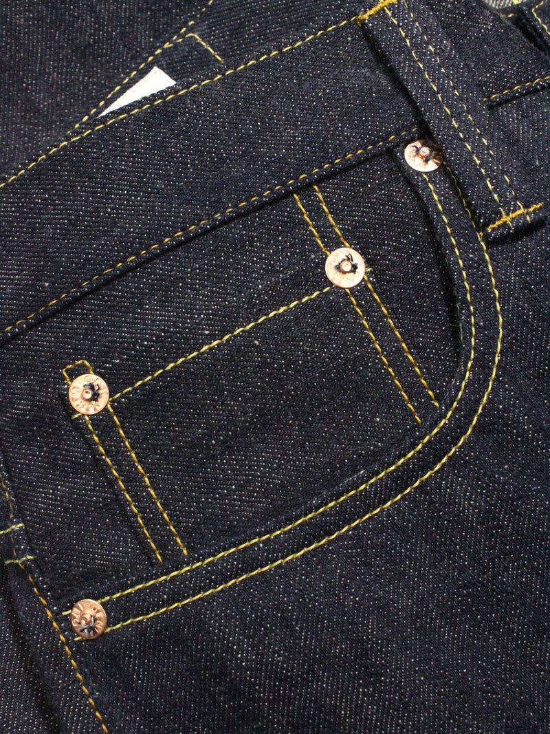 ONI 707LWZR 12.5oz Natural Indigo Low Tension Slim Straight Jean