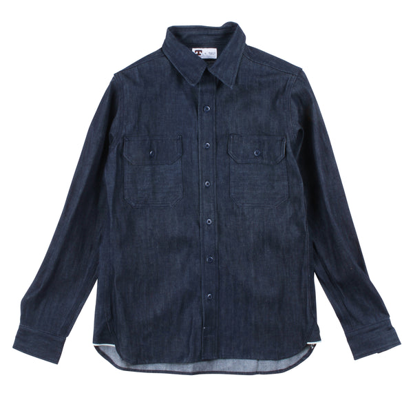 Tellason 10.5oz Clampdown Denim Shirt