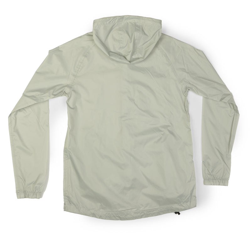 Packmack Full Zip Packable Waterproof Jacket (Pearl Grey)