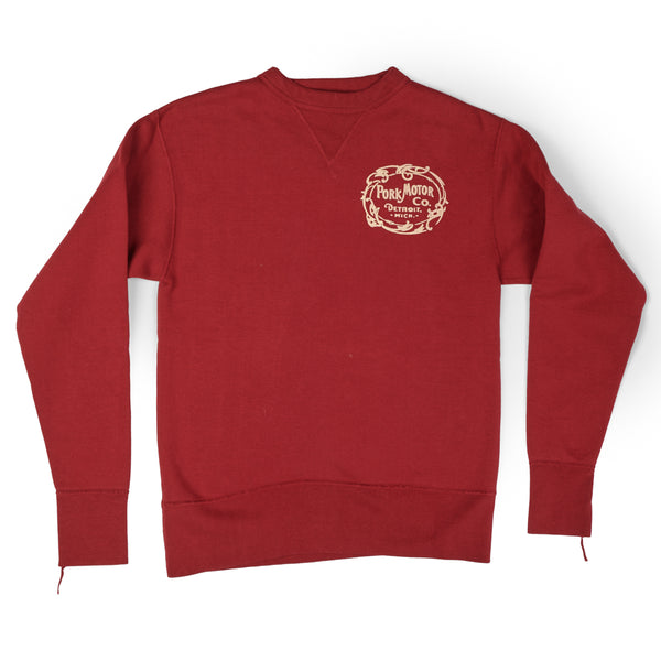 Studio D'artisan 'Pork Motor' Sweatshirt (Red)