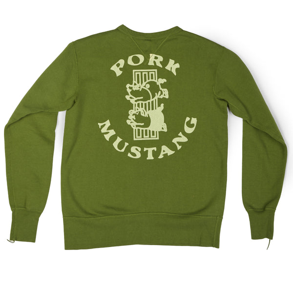 Studio D'artisan 'Pork Motor' Sweatshirt (Light Green)