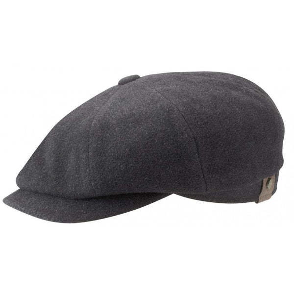 Stetson 6840101-32 Hatteras Wool/Cashmere Flat Cap (Charcoal)