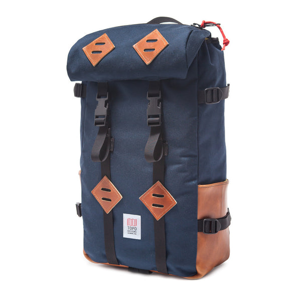 Topo Designs 22L Klettersack (Navy/Brown Leather)