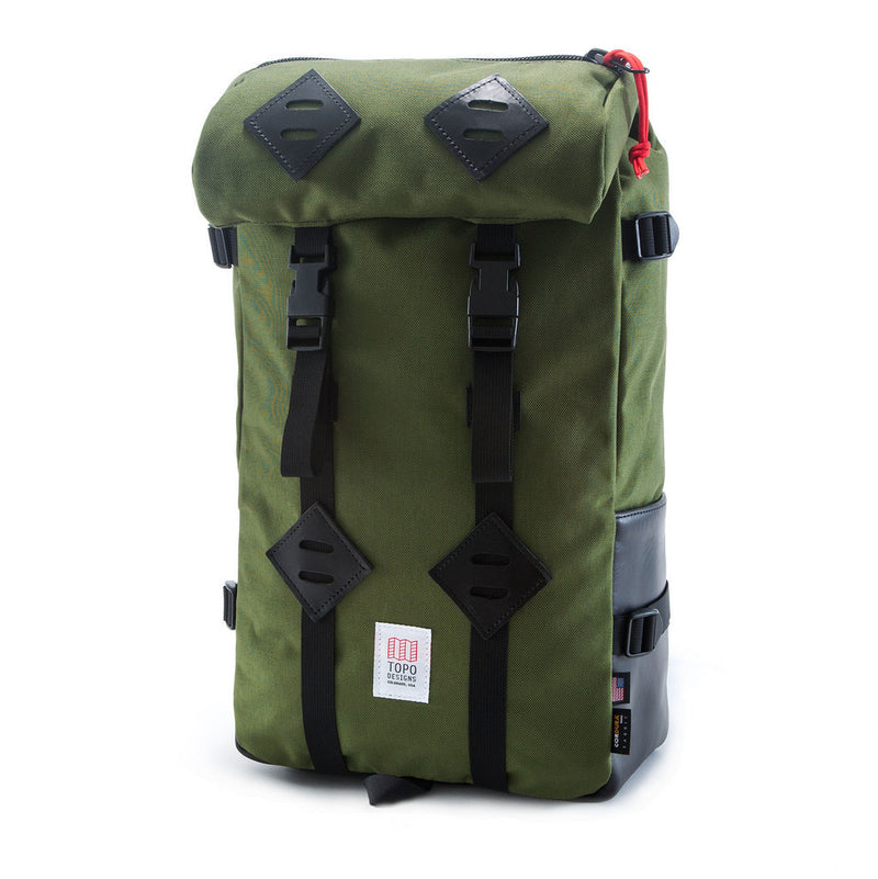 Topo Designs 22L Klettersack (Olive/Black Leather)