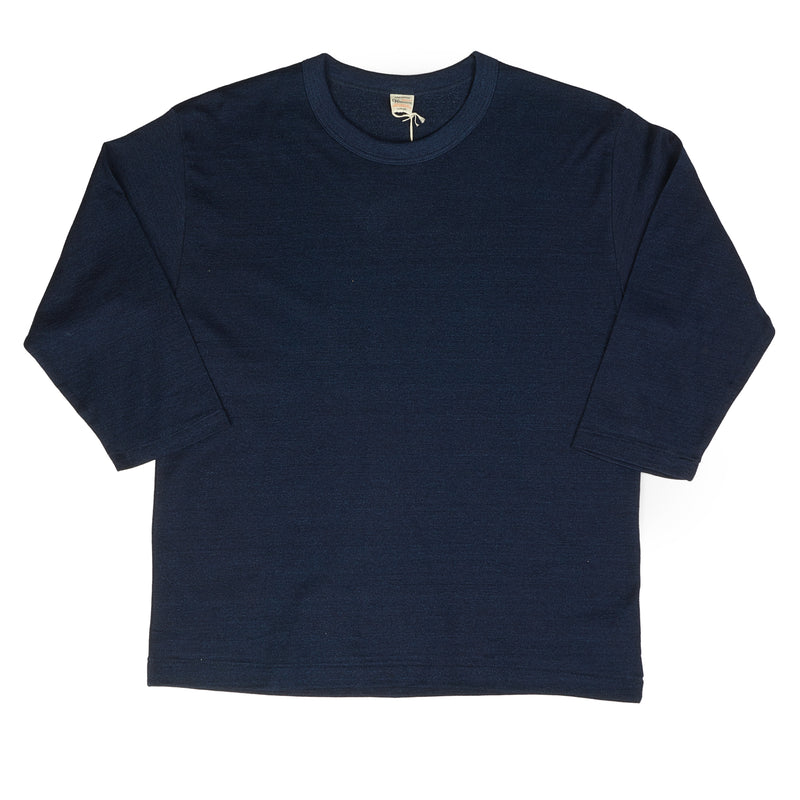 Warehouse 4056 3/4 Sleeve Tee (Indigo)