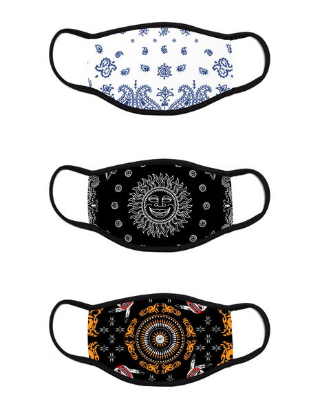 Bandana Face Mask - Pack of 3