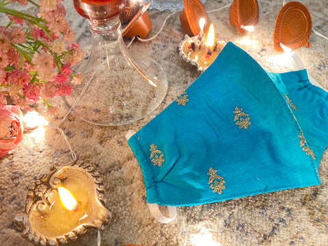 Blue cracker sky- Diwali collection